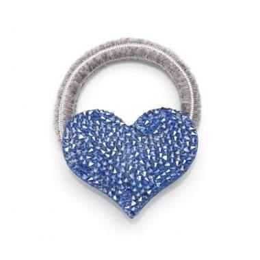 Elastique cœur en cuir et cristaux Swarovski® DEBBY